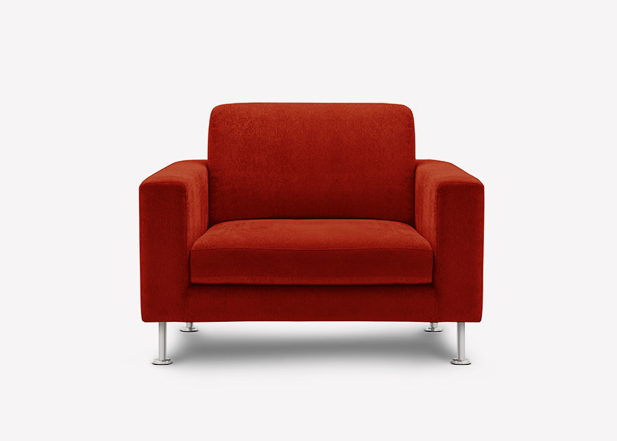 s img wide red armchair